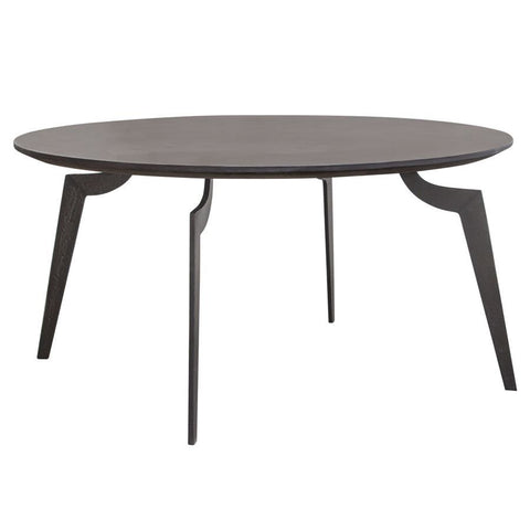 Diamond Sofa Eclipse 35 Inch Round Cocktail Table w/MDF Top & Iron Base