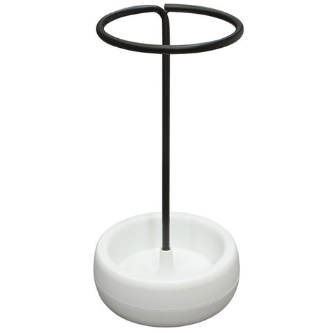 Diamond Sofa Gigi Umbrella Holder Stand w/ Black Metal & White Polypropylene Base
