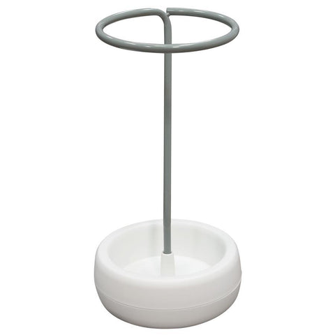 Diamond Sofa Gigi Umbrella Holder Stand w/ Grey Metal & White Polypropylene Base