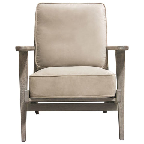 Diamond Sofa Hazel Accent Chair in Champagne Velvet w/Grey Oak Frame
