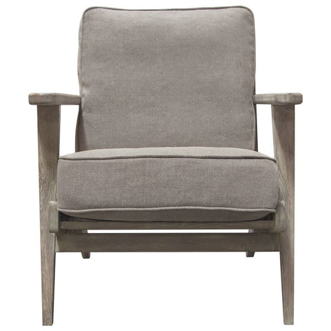 Diamond Sofa Hazel Accent Chair in Grey Linen w/Grey Oak Frame