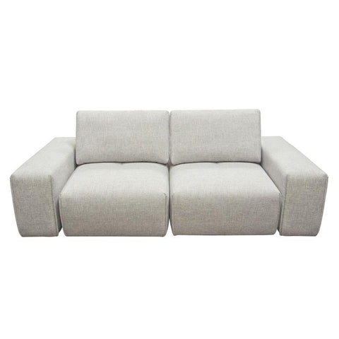 Diamond Sofa Jazz Modular 2-Seater w/Adjustable Backrests in Light Brown Fabric