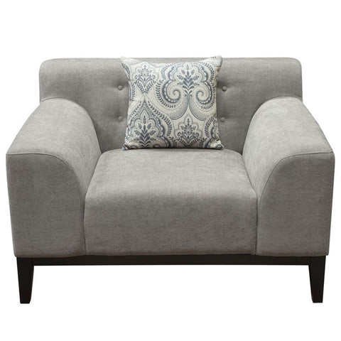 Diamond Sofa Marquee Tufted Back Chair in Moonstone Fabric w/Accent Pillows