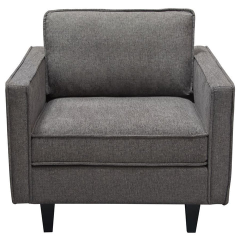 Diamond Sofa Maxim Mid-Century Inspired Chair in Plush Pepper Grey Fabric