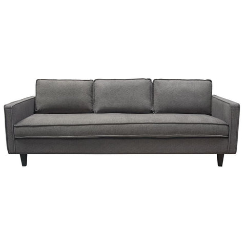 Diamond Sofa Maxim Mid-Century Inspired Sofa in Plush Pepper Grey Fabric