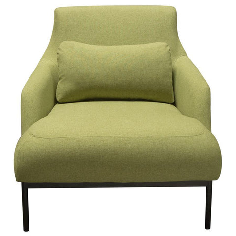 Diamond Sofa Melrose Chair in Avocado Fabric w/Black Powder Coat Metal Legs