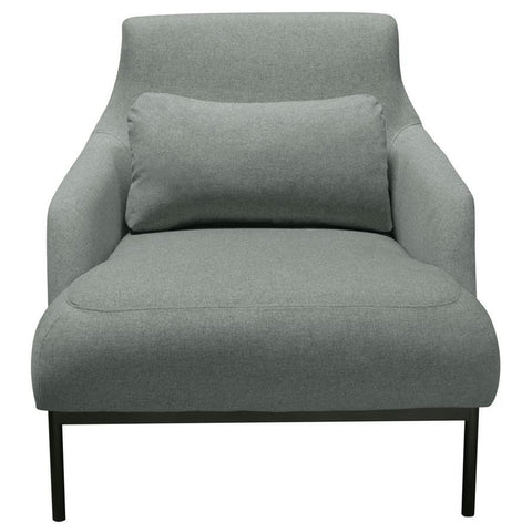 Diamond Sofa Melrose Chair in Mist Grey Fabric w/Black Powder Coat Metal Legs