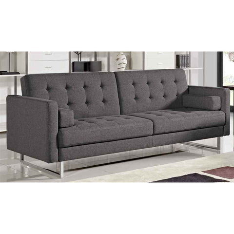Diamond Sofa Opus Convertible Tufted Sofa in Grey