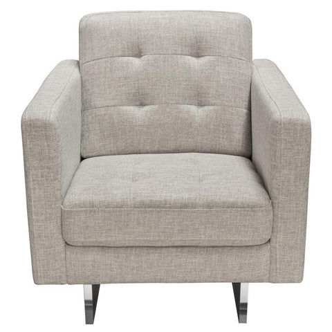 Diamond Sofa Opus Tufted Chair in Barley Fabric
