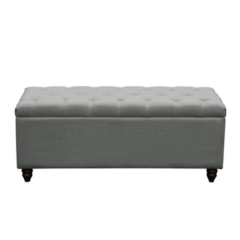 Diamond Sofa Park Avenue Tufted Lift-Top Storage Trunk - Grey Linen