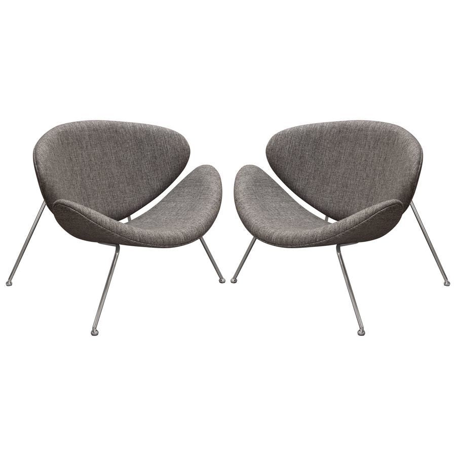 Fantastic Diamond Sofa Roxy Accent Chair W Chrome Frame Grey Fabric Set Of 2 Ibusinesslaw Wood Chair Design Ideas Ibusinesslaworg