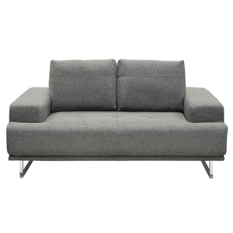 Diamond Sofa Russo Loveseat w/Adjustable Seat Backs in Space Grey Fabric