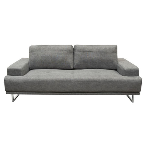 Diamond Sofa Russo Sofa w/Adjustable Seat Backs in Space Grey Fabric
