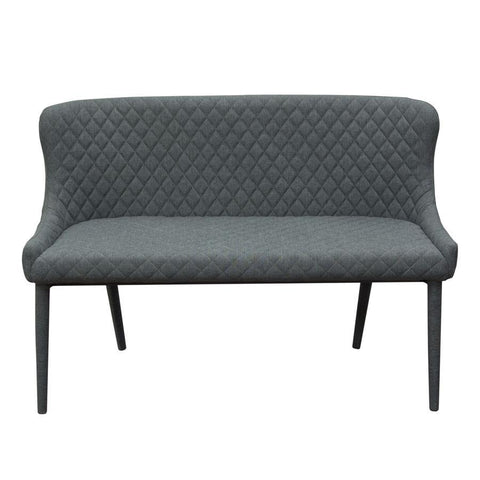 Diamond Sofa Savoy Accent Bench in Graphite Fabric w/Metal Leg - Set of 2