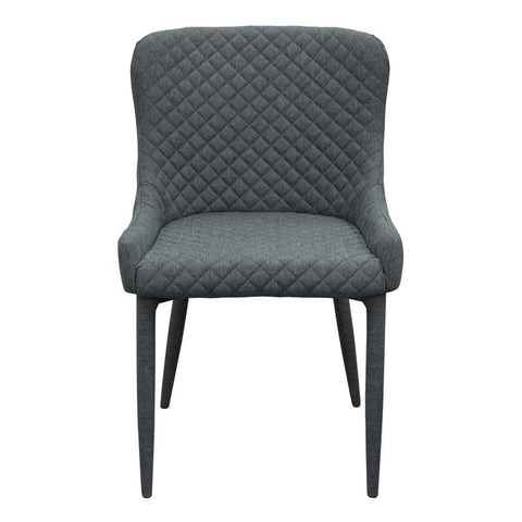 Diamond Sofa Savoy Accent Chair in Graphite Fabric w/Metal Leg - Set of 2