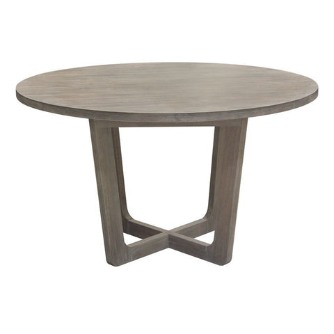 Diamond Sofa Solano 51 Inch Round Dining Table in Grey Oak