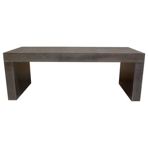 Diamond Sofa Utah 85 Inch Faux Concrete Dining Table in Iron