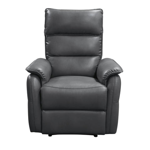 Diamond Sofa Walsh Manual Reclining Accent Chair in Grey Air Leather