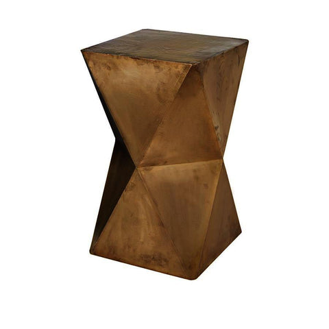 Dimond Home Faceted Stool With Brass Cladding
