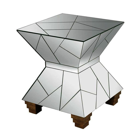 Dimond Home Mirrored Mosaic Hourglass Foot Stool