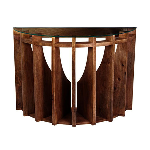 Dimond Home Wooden Sundial Console Table