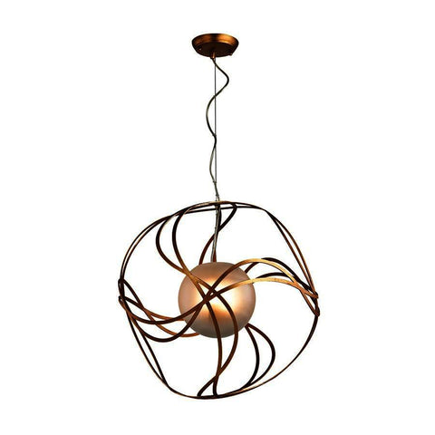 Dimond Lighting Oriona 3 Light Pendant In Antique Gold Leaf - Small
