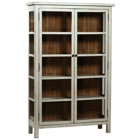 Dovetail Anna Vitrine In Antique Grey