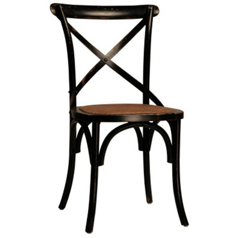 Dovetail Gaston Ant. Black Dining Chair