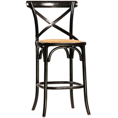 Dovetail Gaston Counter Chair Large Ant. Black