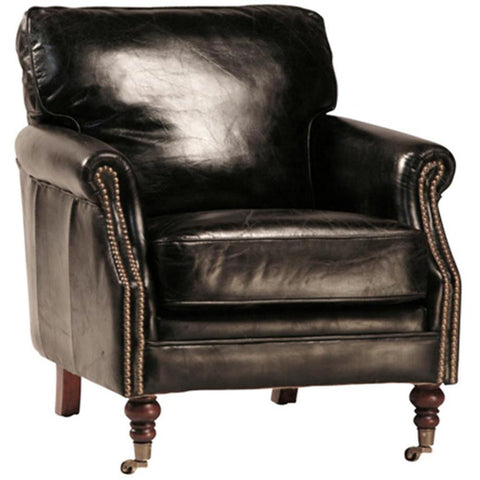 Dovetail Harrow Club Chair In Ant Black