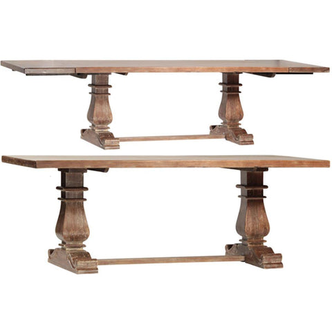 Dovetail Lauren Dining table With Extension In Lucca Finish