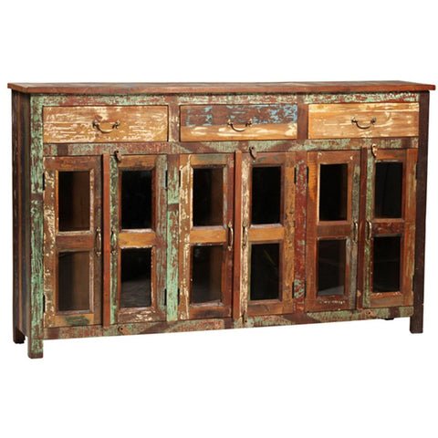 Dovetail Nantucket 3 Drawer 6 Door Sideboard