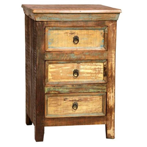 Dovetail Nantucket Nightstand 3 Drawer