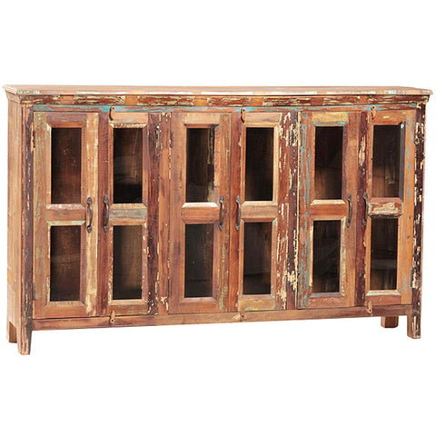 Dovetail Nantucket Sideboard W/Glass Doors