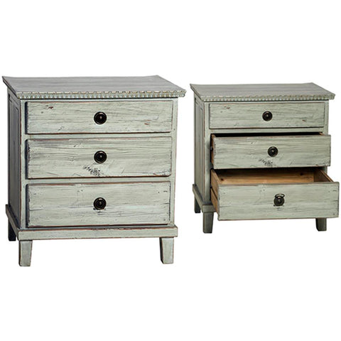 Dovetail Soren Nightstand 3 Drawer
