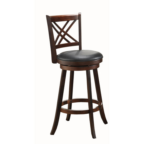 ECI Furniture Walnut Double X Back Stool