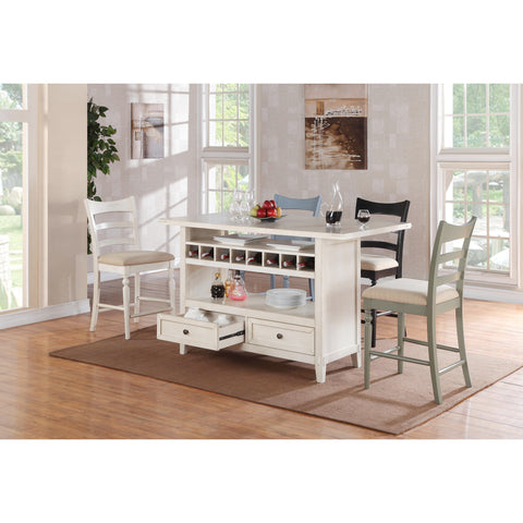 ECI Furniture Antique White Island Table
