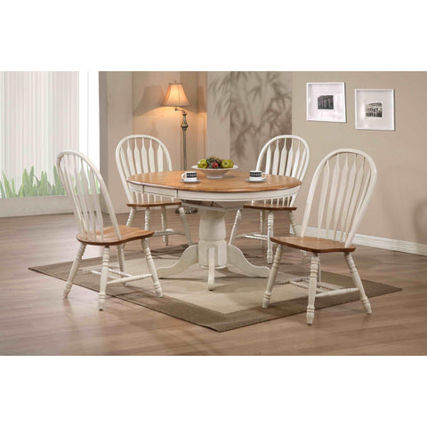 ECI Furniture Antique White Round Dining Table