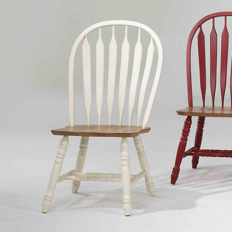ECI Furniture Bow Back Side Chair In Antique White