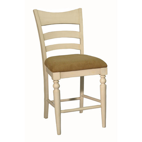 ECI Furniture Counter Stool With Upholstered Seat In Antique White