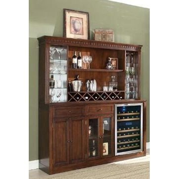 ECI Furniture Distressed Walnut Back Bar