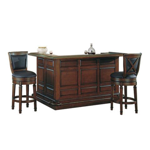 ECI Furniture Distressed Walnut Return Bar With Back Bar