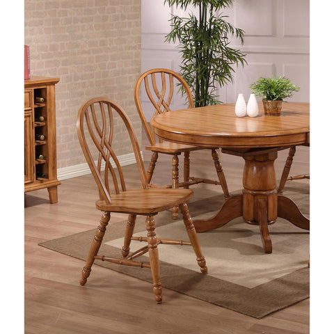 ECI Furniture Rustic Oak Double X Back Side Chair