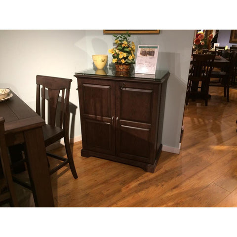 ECI Furniture Spirit Cabinet Black Oak Finish Spirit Cabinet