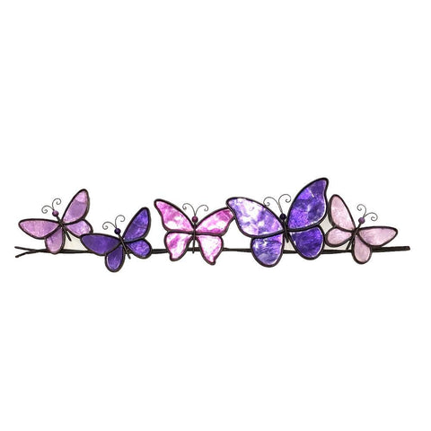 Eangee Butterflies On A Wire Wall Decor Purple