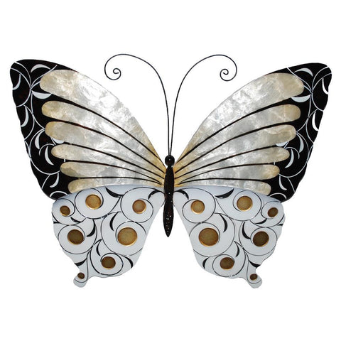 Eangee Butterfly Wall Decor Black Pearl And Gold