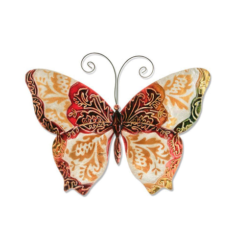 Eangee Butterfly Wall Decor Pearl And Red