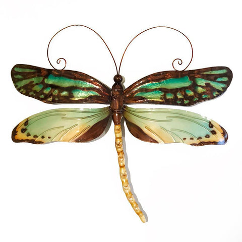 Eangee Dragonfly Wall Decor Aqua And Gold