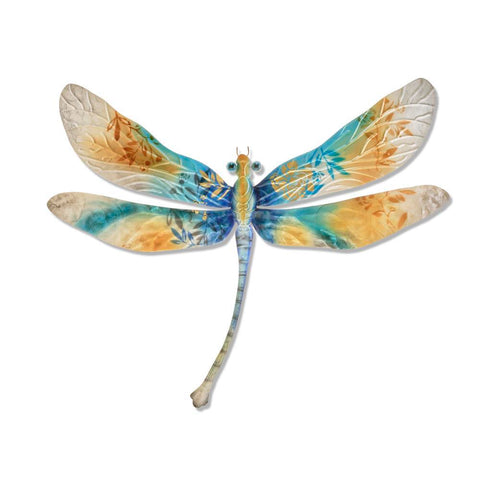 Eangee Dragonfly Wall Decor Aqua Gold And Pearl