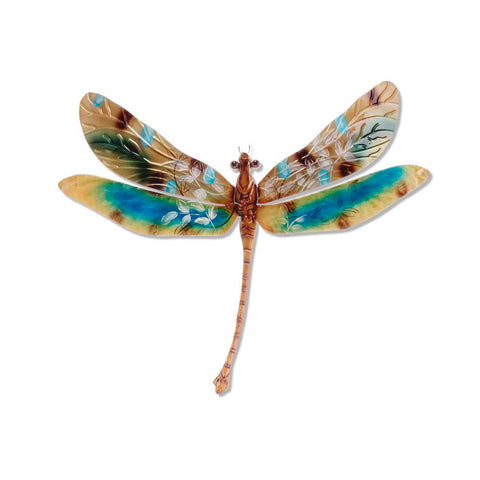 Eangee Dragonfly Wall Decor Golds And Aqua